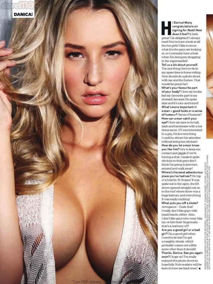 nuts magazine - danica thrall